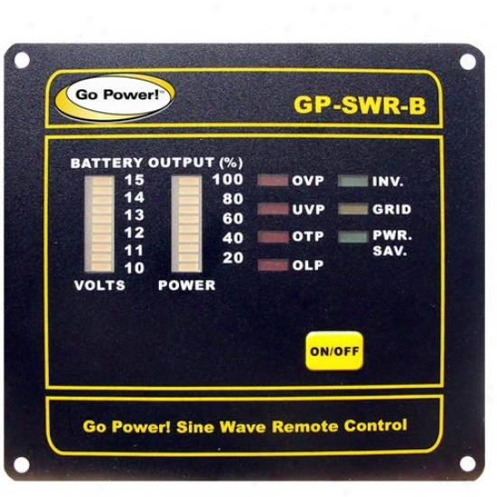 Go Power! Remote For The 12v Gp-sww1000, 2000, & 3000