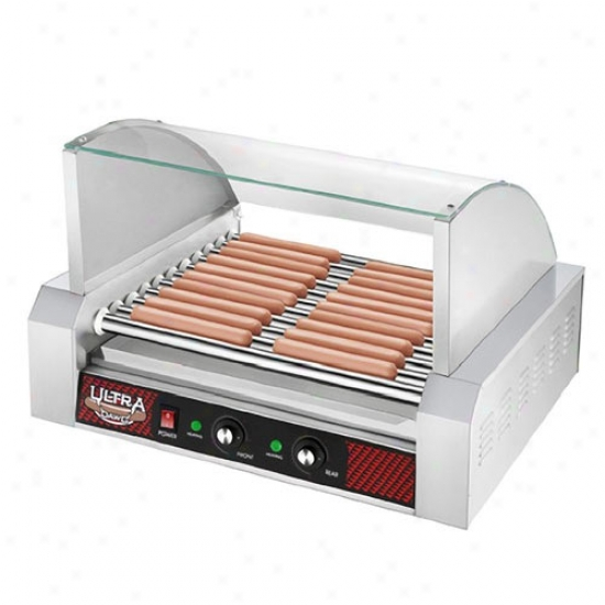 Great Northern Popcorn Hot Dog Machine W/ 11 Rollers & Cover