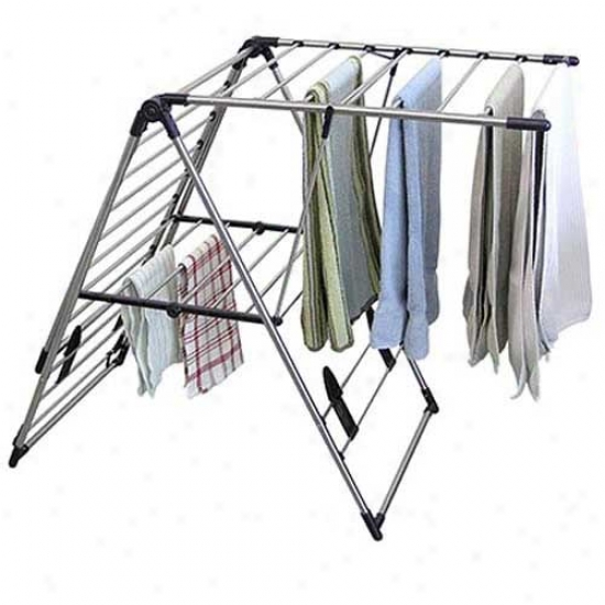 Greenway Home Extra Large Stainless Steel Fold Away Laumdry Rack