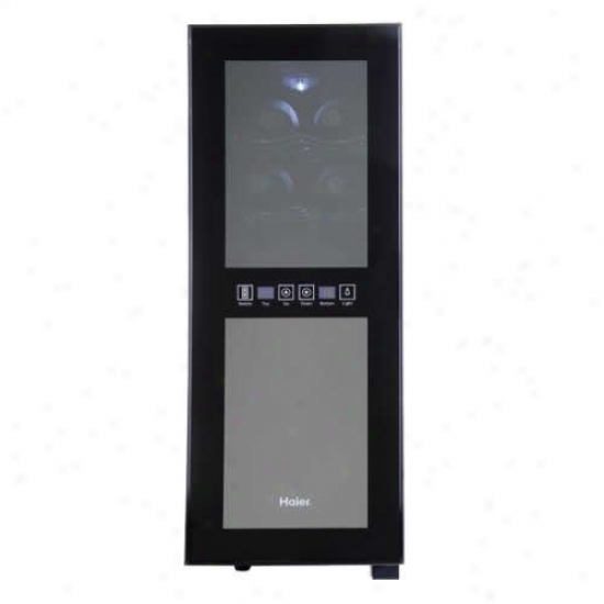 Haier 12-bo5tle Dual Surface bounded by parallel circles Wine Cellar
