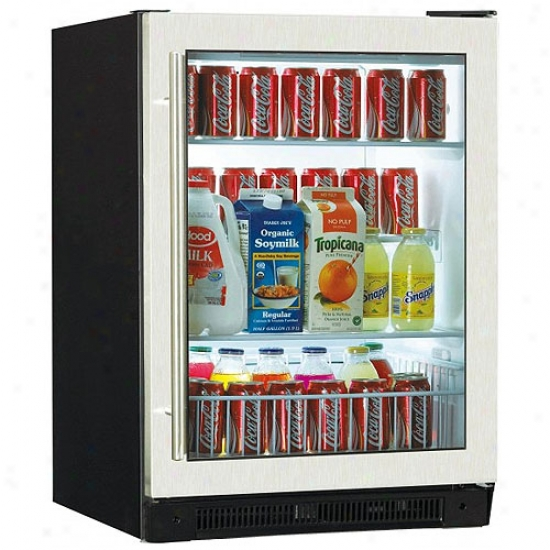 Haier 150 Can Bilt-in Beverage Refrigerator Attending Stainless Steel Door