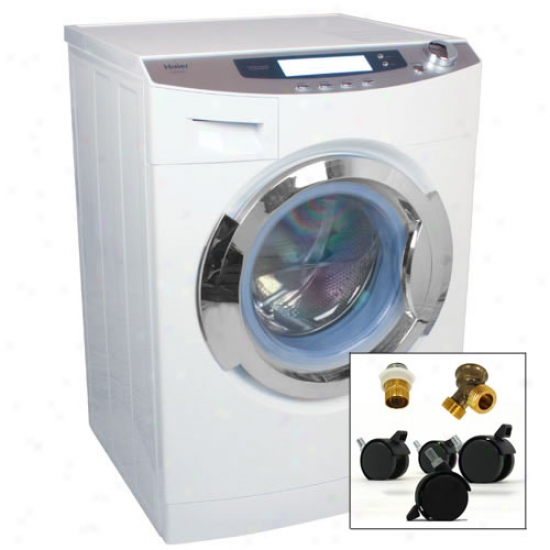 Haier 1.8 Cu. Ft. Ventless Front Load Combo Washer Dryer With Portability Kit