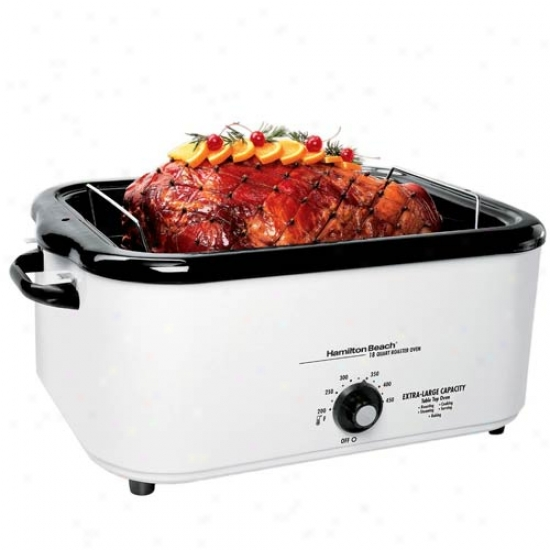Hamilton Beacy 18 Quart Roaster Oven Woth Buffet Pans