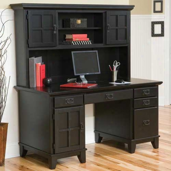 Home Styles Arts And Crafts Desk And Hutch
