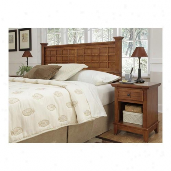 Home Styles Arts And Crafts Headboard And Night Stand