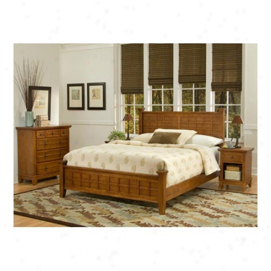 Home Styles Arts And Crafts Queen Bed, Night Endure And Chest