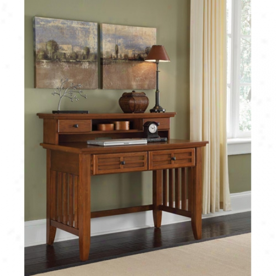 Home Styles Arts And Crafts Student Desk And Hutch