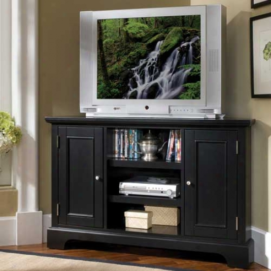Home Styles Bedford Corner Entertainment Tv Stand - Ebony