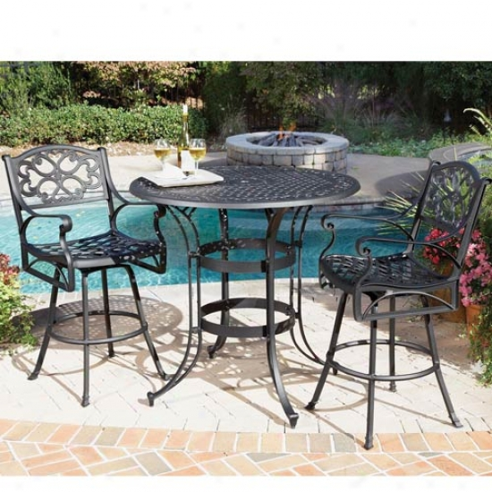 Home Styles Biscayne 3 Piece Outdoor Bistro Set