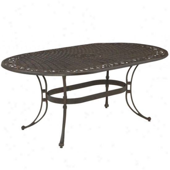 Home Styels Biscayne Oval Outdoor Duning Table