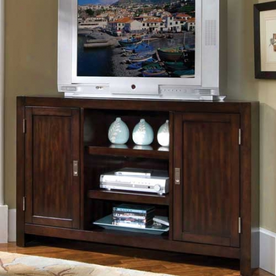 Home Styles City Chic Corner Entertainment Tv Stand - Espresso