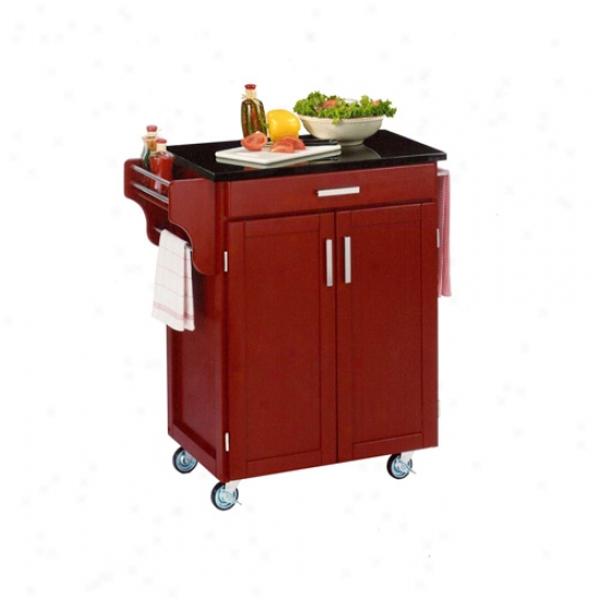 Home Styles Cuisine Kitchhen Cart With Murky Granite Head