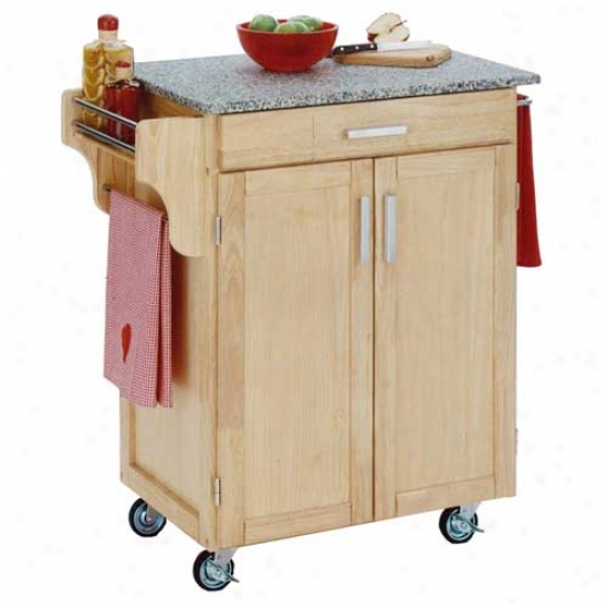 Home Styles Cuisine Kitchen Cart With Salt And Pepper Granite Top