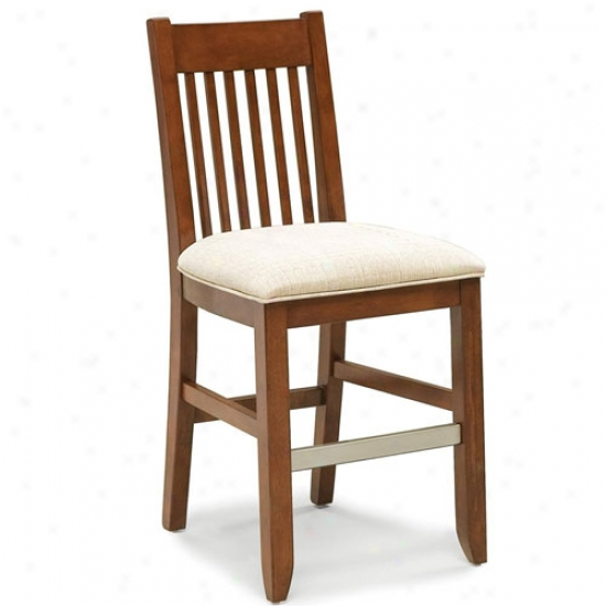Home Styles Hanover 24  Upholstered  Seat Bistro Stool