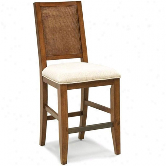 Home Styles Jamaican Bay 24  Upholstered Seat Bistro Stool