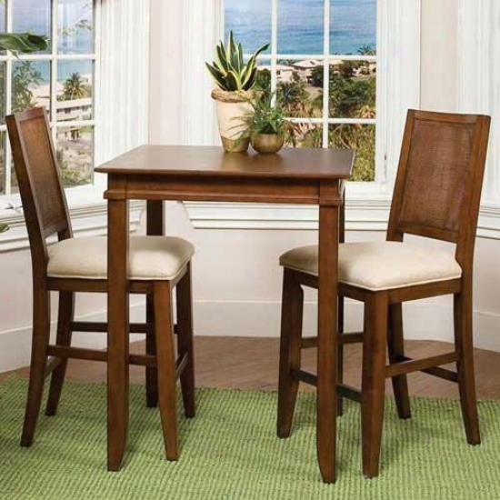 Home Styles Jamaican Bay Three Piece Bistro Set