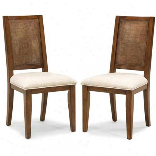 Home Styles Jamaican Bay Upholstered Dining Chair (2 Pack)