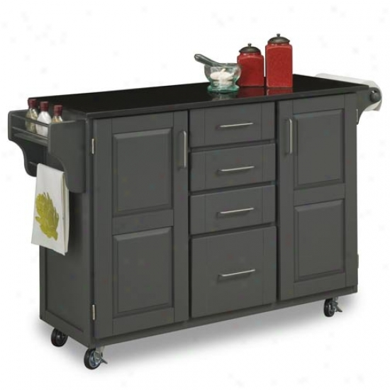Home Styles Large Create-a-cart  With Black Granite Top