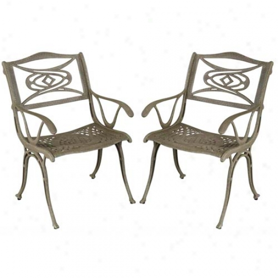 Home Styles Malibu Arm Outdoor Dining Chaair (2 Pack)