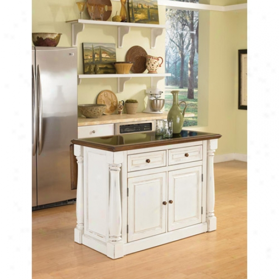 Fireside Styles Monarch Kitchen Island With Granitr Top