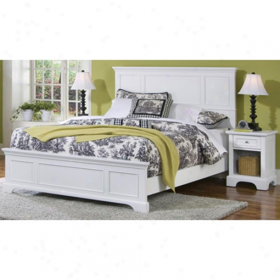 Home Styles Naples Queen Bed And Night Put