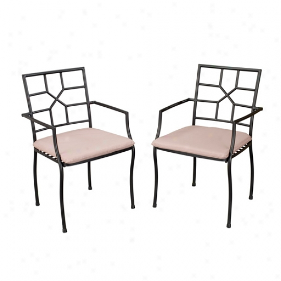 Home Styles Outdoor Cambria Side Chairs (2 Bundle)