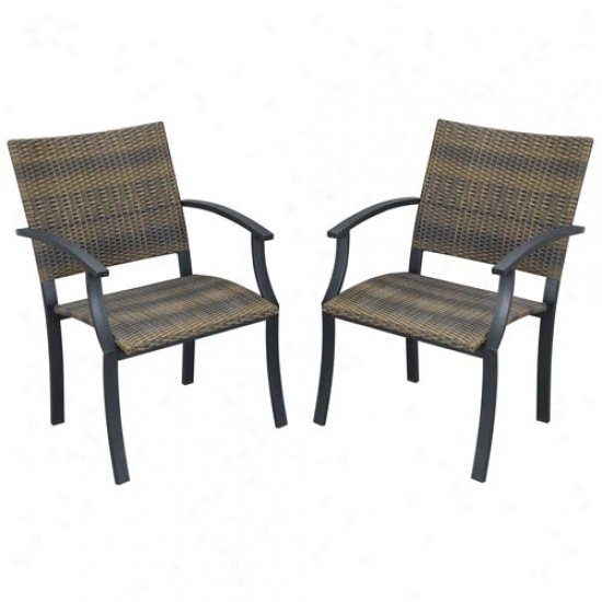 Close Styles Outdoor Newport Arm Chairs (2 Pack)