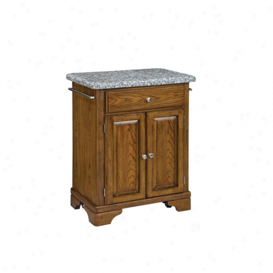 Home Styles Premium Cuisine Kitchen Cart With Gray Granite Top