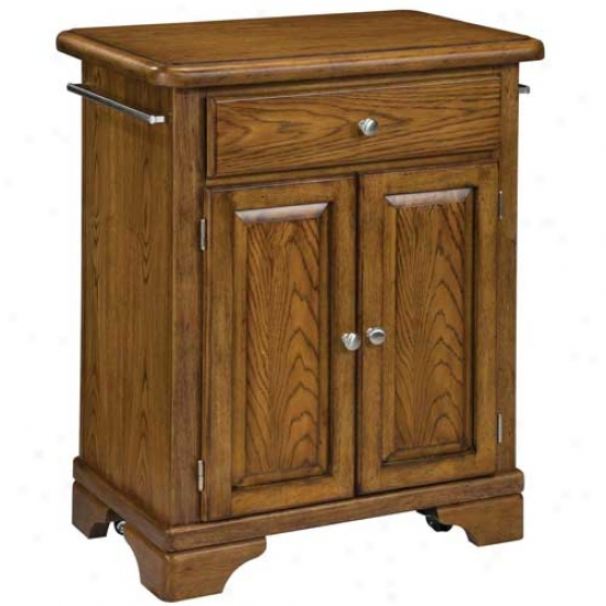 Home Stles Premium Cuisine Kitchen Cart With Wood Top