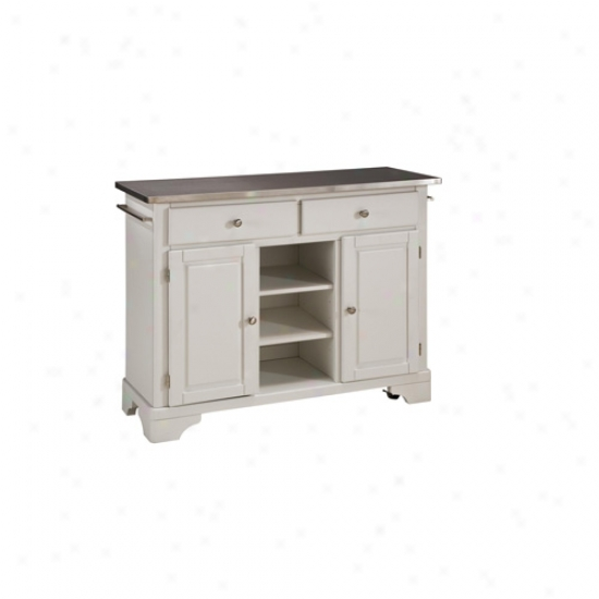 Home Styles Premium Kitchen Cart With Stainless Steel Top