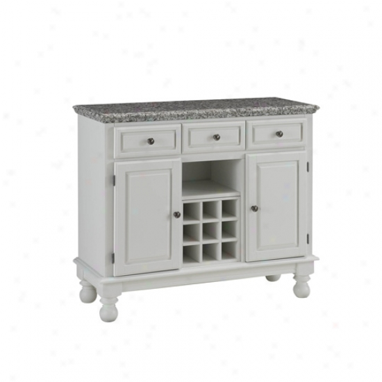 Home Styles Premium Large Buffet With Gray Granite Top