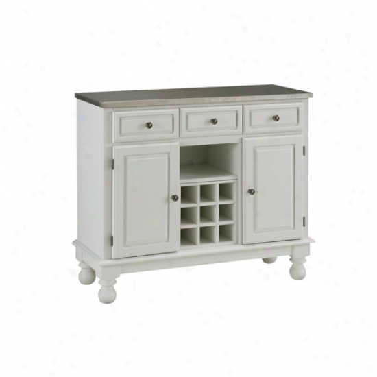 Home Styles Premium Lwrge Buffet Wiith Stainless Steel Top
