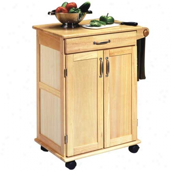 Home Styles Proml Cart With 2 Panel Doors