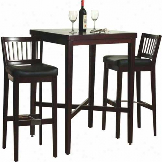 Home Styles Pub Table Bar Stools With Metal Stretcher