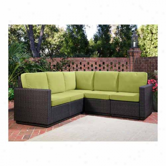 Home Styles Riviera Outdoor Five Seater L Shape Sectional Sofa