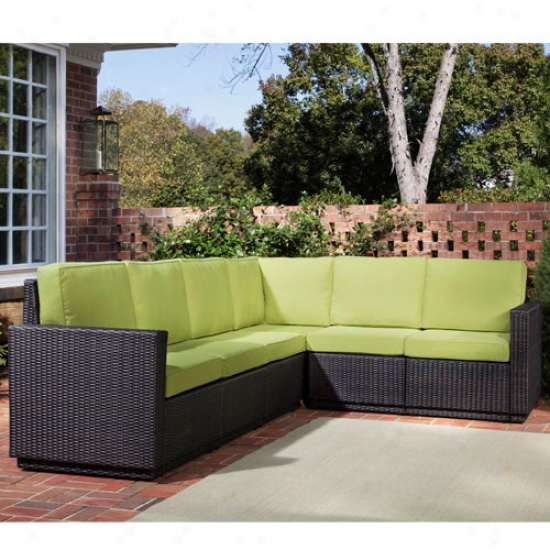 Home Styles Riviera Six Seater Outdoor L Shape Sectional