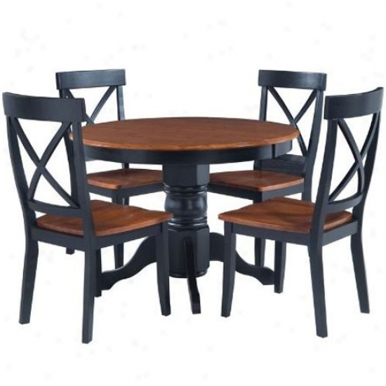 Home Styles Round Pedestal Dining Table Set