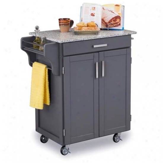 Home Styles Small Create-a-cart With Salt And Pepper Granite Top