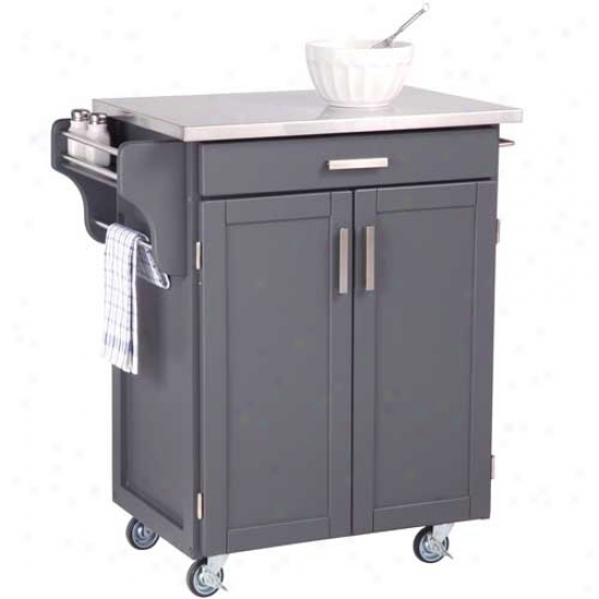 Home Styles Small Create-a-cart Wigh Stainless Steel Top