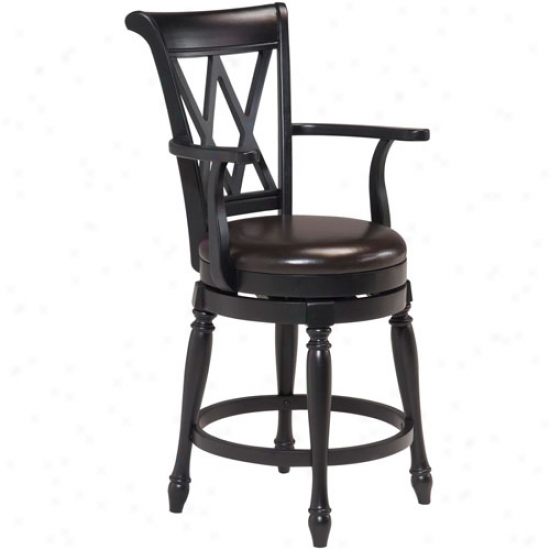 Home Styles Traditional Swivel Rod Stool