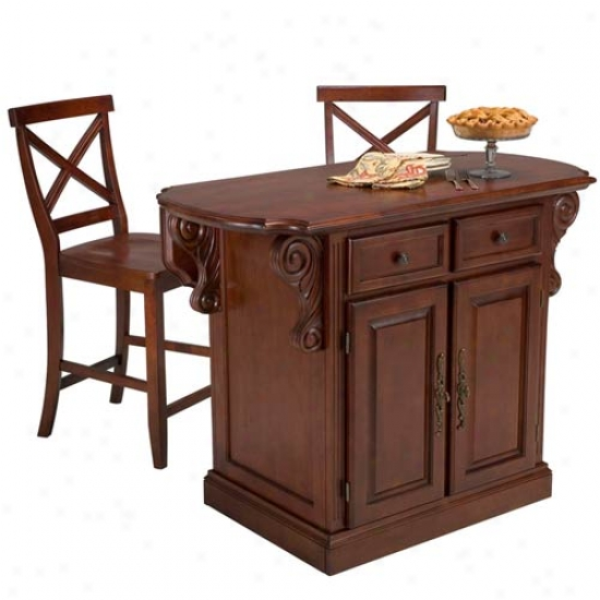 Home Styles Traditions Kitchen Island Set