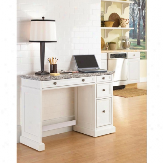 Home Styles Traditions Utility Desk With Salt And Pepper Granite Rise above