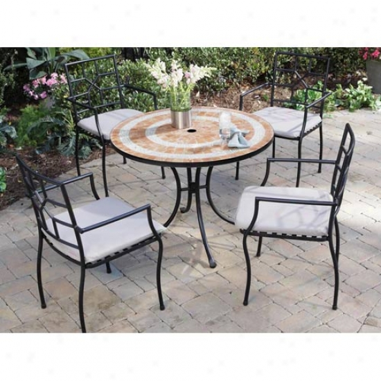 Home Styles Valencia Outdoorr Table With 4 Cambroa Chairs