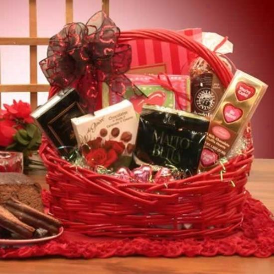I'm Sweet On You Valentines Chocolates Giift Basket