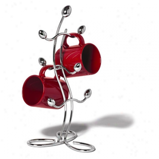 Italio Mug Tree - Chrome