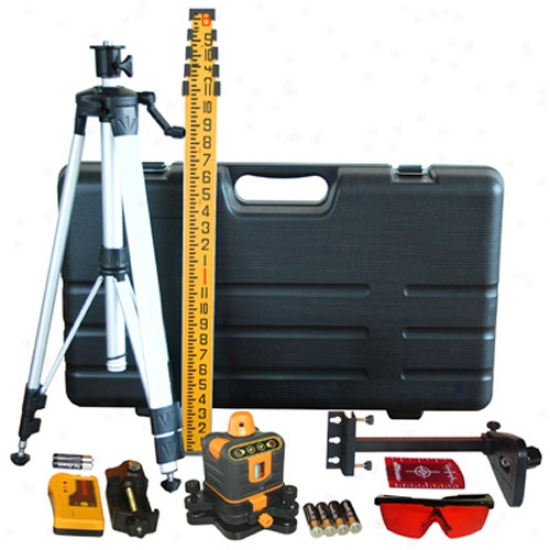 Johnson Level Manual-leveling Rotary Laser Level Kit