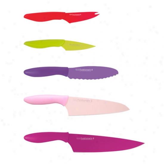 Kai Komachi 5 Piece Knife Set W/ Tomato Knife