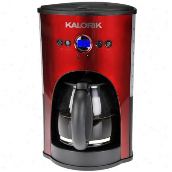 Kalorik1 2 Chalice Progrsmmable Coffee Maker - Red Metallic