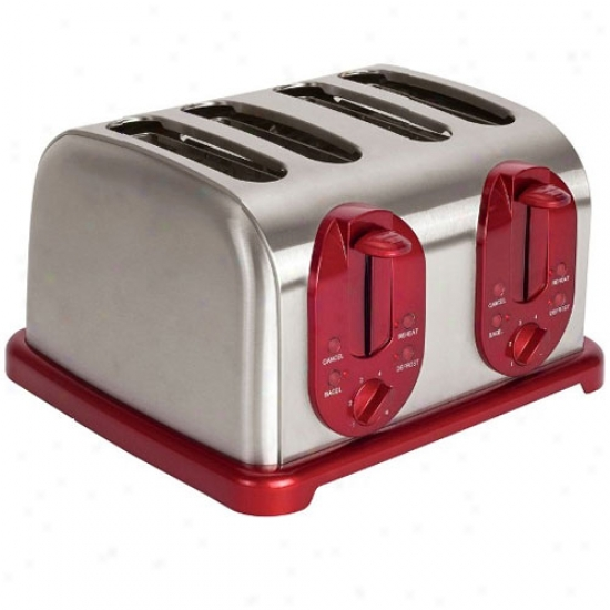Kalorik 4-slice Toaster - Red Metallic