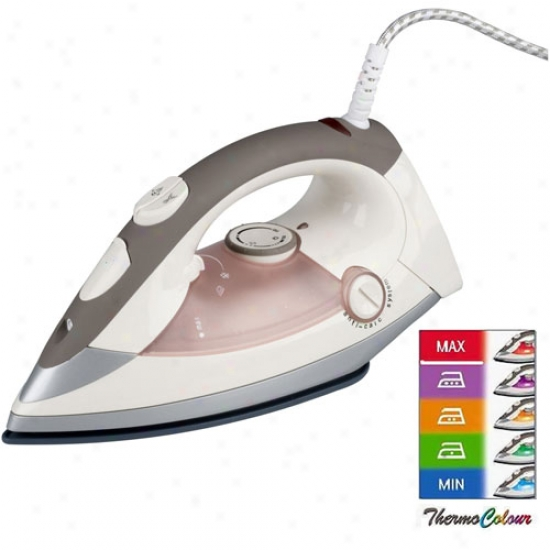 Kalorik Pink Steam Iron With Thermocolor System